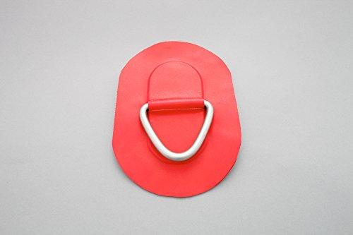 D-Ring für Schlauchboote (rot), Beschlag zum Aufkleben aus Valmex Bengar DR-03