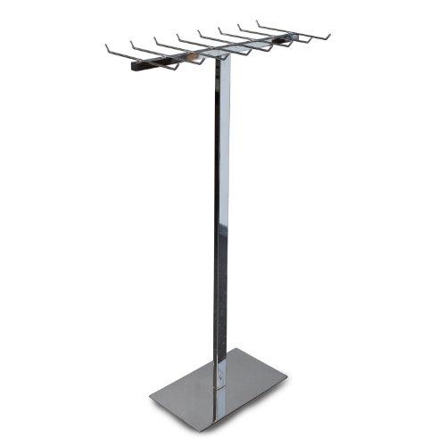 GERSO Design Gürtelständer verchromt mit 16 Haken 140cm