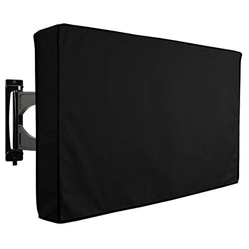 Outdoor TV-hoes (meerdere maten) 600D waterdichte Oxford ClothTV-beschermer, voor LCD, LED, plasma, flatscreen televisies, ingebouwde afstandsbediening opbergvak,Black,30