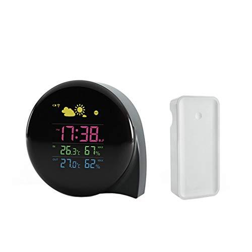 XF-B Pantalla LED Digital Termómetro Exterior For Interiores Higrómetro Previsión Meteorológica Reloj Diario Mini Estación Meteorológica De Coma