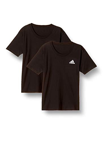 アディダス クーポン対象商品 半袖 Tシャツ インナー キッズ ジュニア 男の子 2枚セット ワンポイントロゴ 男児 メンズ クーポンコード:7PSSAG7