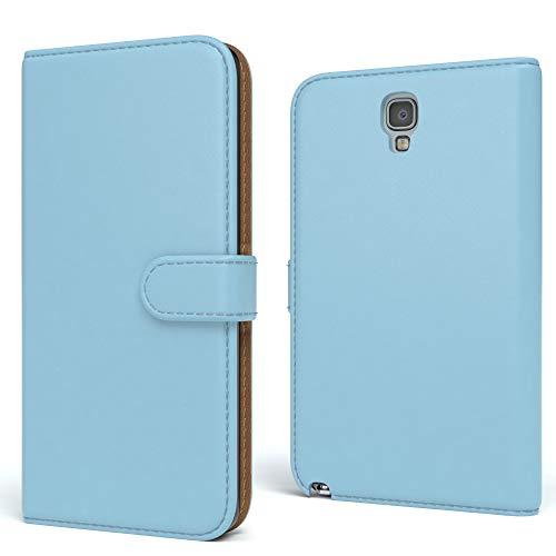 EAZY CASE Tasche kompatibel mit Samsung Galaxy Note 3 Neo Schutzhülle mit Standfunktion Klapphülle Bookstyle, Handytasche Handyhülle mit Magnetverschluss & Kartenfach, Kunstleder, Hellblau