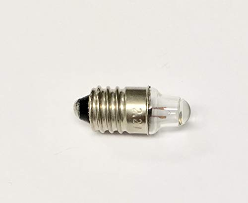Electro-Optix 222 Bulb #222 Bulb 2.25V 0.25 amp, E10 Miniature Screw Base Mini Indicator lamp,Magnifiers, Microscopes, flashlights, Automotive (Pack of 50)
