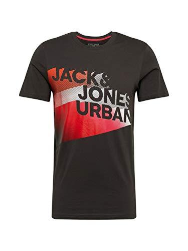 JACK & JONES Herren JCOLOGO-Universe Tee SS Crew Neck Camp T-Shirt, Pirate Black, XL