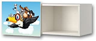 Tucan Friends Furniture Film WS10 Furniture sticker matching the children s closet organizer BRIMNES IKEA Furniture Not Included STIKKIPIX