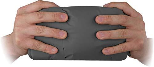 normani Ultrakleine MEGA Kopmpakte Camping-Luftmatratze wasserdichte Isomatte Biwakmatte Schlafmatte mit 520 g - SUPERLEICHT Farbe Anthrazit