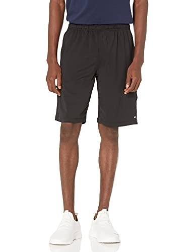 Amazon Essentials Tech Stretch Training Short Athletic-Shorts, Negro, US L (EU L)