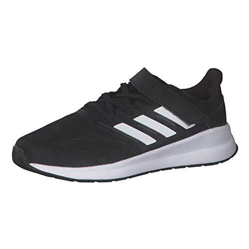 adidas Unisex-Kinder Runfalcon Road Laufschuhe, Schwarz (Core Black/Footwear White/Core Black), 34 EU