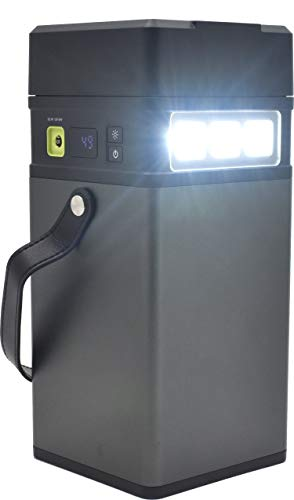 PLATA PSE認証 ポータブル電源 100,000mAh バッテリー インバーター 付き 無停電電源装置 LEDライト 高速充電/防災グッズ 災害 停電 車中泊 キャンプ 夜釣り / 6か月メーカー保証