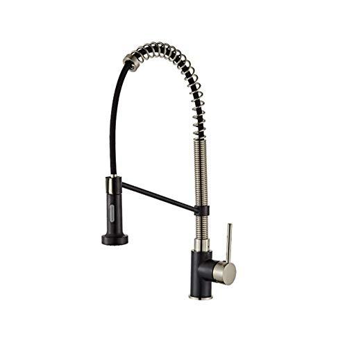 BH-JJSMGS,Grifo moderno del fregadero de la cocina con el rociador extraíble mezclador de latón grifo de la cocina, fregadero giratorio de una sola manija del fregadero de una sola manija