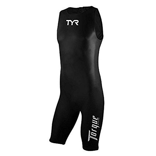TYR Men's Torque Elite Skinsuit (Black, Small)