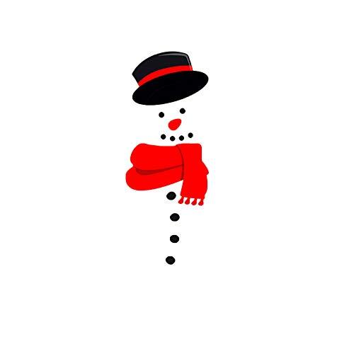 Christmas Snowman Magnetic Fridge Sticker Waterproof Wall Sticker Christmas Decorations Refrigerator Door Sticker (D)