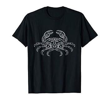 Tribal Art Tattoo Style Cancer Crab Zodiac T Shirt Gift