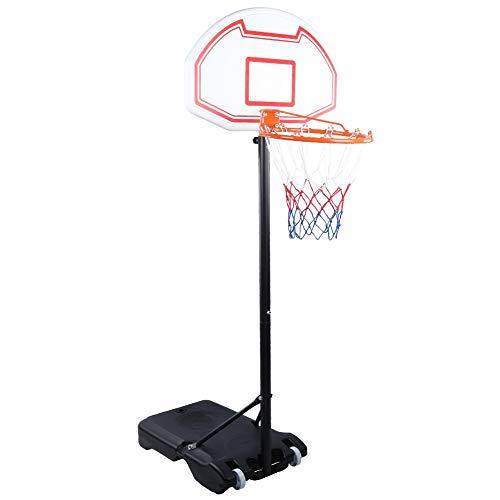 T-Day Aro de Baloncesto, Sistema de Tablero Trasero de aro de Baloncesto Soporte al Aire Libre Altura móvil Ajustable Entrenamiento estándar