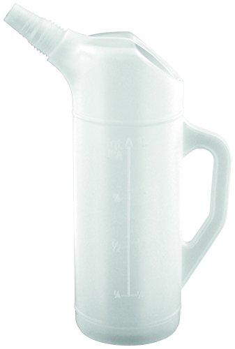 BLUREA Ölkanne aus Polyethylen 1 Liter, Milliliter-Skala, bruchsicher, Öl, Säure und Kraftstoff Beständig, für Motoröl Kühlflüssigkeit, Zubehör für Werkstatt und Garage