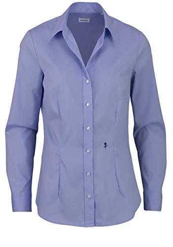 Seidensticker Damen Bügelfreie, taillierte Hemdbluse für eine Feminine Silhouette und optimalen Langarm – 100% Baumwolle Bluse, Hellblau, 48
