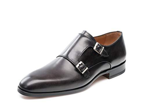 Magnanni Lucio Grey Men's Monk Strap Shoes Size 10.5 US