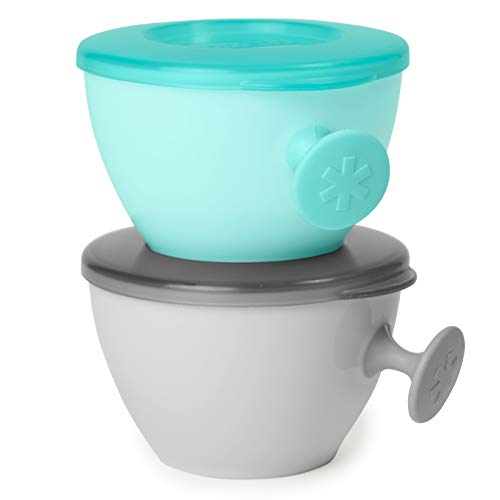 Kit Bowls Easy-Grab Cinza e Azul, Skip Hop, Cinza e Azul