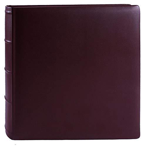Libro fotografico Roma in pelle rosso vino
