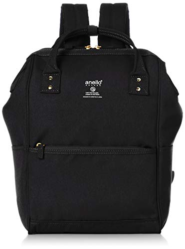 Anello Grande GU-B3013 Sports Series Lightweight Water Repellent Heather Poly Base Backpack Regular (A4 Size) 5 Pockets (Black)