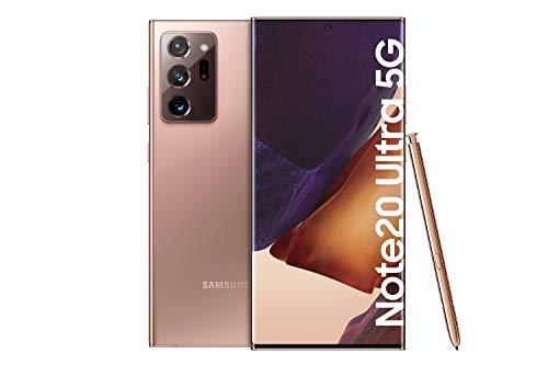 Samsung Galaxy Note 20 Ultra 5G Android Smartphone ohne Vertrag Triple Kamera Infinity-O Display 256 GB Speicher starker Akku Handy in bronze inkl. 36 Monate Herstellergarantie [Exklusiv bei Amazon]