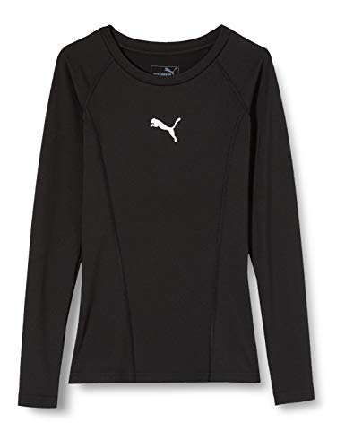 PUMA Kinder Liga Baselayer Tee LS Jr Shirt, schwarz (Puma Black), 128