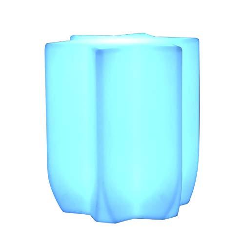 Barra de luz LED a Prueba de Agua Mesa con Sillas Mesas de luz LED de heces Silla Cambio de Color del Estado de ánimo del Partido Stand de Seat Recargable de Muebles for el Partido Bar Jardín