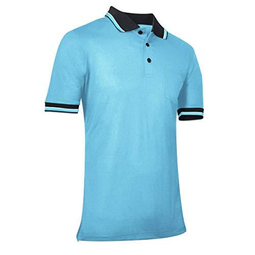 CHAMPRO Baseball/Softball Umpire Polo Shirt - Polyester, Adult X-Large, Light Blue