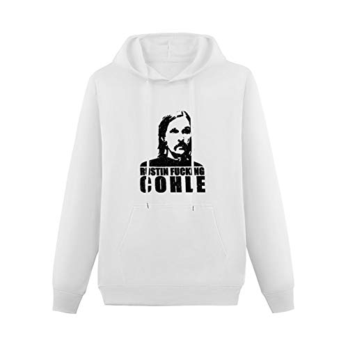 Blackcloud Rustin Fucking Cohle True Detective Printed Sweater for Men White XL