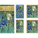 Entertaining with Caspari Gift Set Jumbo Type - 2 Score Pads & Bridge Tallies (Package of 24) (Van Gogh Irises)
