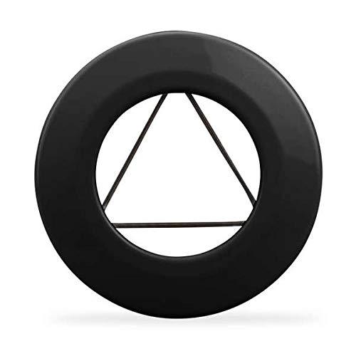 Ø 120 mm Ofenrohr Wandrosette mit Spannfeder emailliert Schwarz