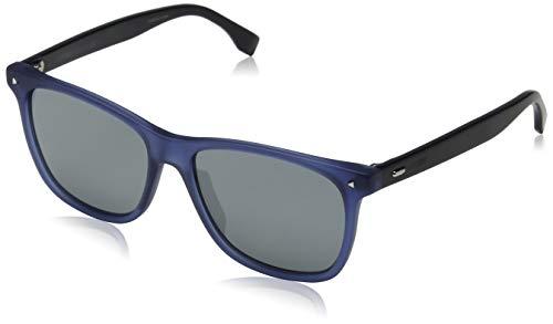 FENDI FF M0002/S T4 PJP 55 Gafas de sol, Azul (Bluette/Grey Grey), Hombre