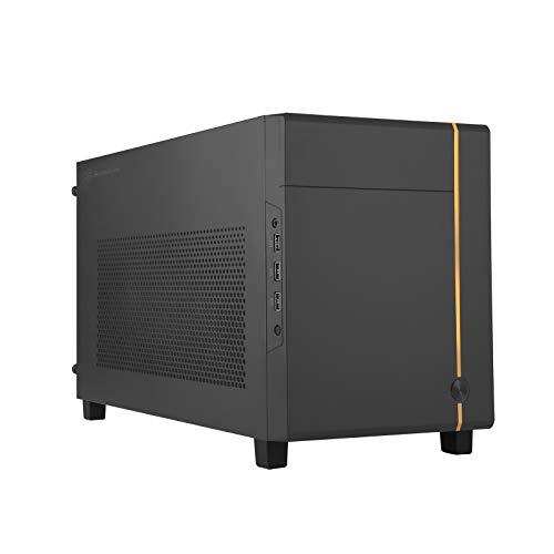 SilverStone Technology SUGO 14, Mini-ITX-Cube-Gehäuse, Unterstützt Grafikkarten in voller Länge für 3 Steckplätze/ATX PSU / 240mm AIO, 4 abnehmbaren Blenden, SST-SG14B 12057