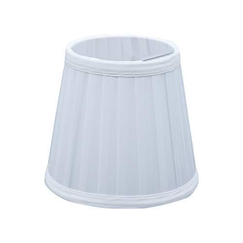 Handwerk Stoff Lampenschirm Plissee Lampenabdeckung für Wandleuchte Pendelleuchte Kerze Kronleuchter Tischlampe (Weiß)