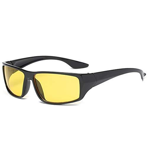 Yi-xir diseño Clasico 2 unids/Lote Gafas de Sol Fuera de los Deportes Equitación Visita de Noche Visión Nocturna TV Amarillo TV Gafas de Sol a Prueba de Viento Moda