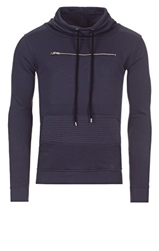 Yazubi Herren Sweatshirt Hoodie Kallari Zipped Chest Pocket, Anthra (10003), XL