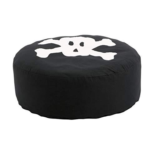 Hoppekids Sitzsack mit Pirat, Baumwolle/Schaum, Schwarz, 75 x 75 x 23 cm