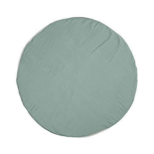 LÄSSIG Krabbel-und Spieldecke aus Muslin Bio-Baumwolle waschbar/Seat Cushion Muslin mint