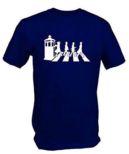 Men's Gallifrey Road Tardis and Crossing T-shirt