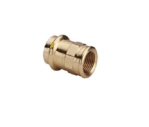 Viega ܜbergangsstück Profipress G 2612 RG SC-Contur Mkant m IG 18 mm x 3/4 Zoll, 346409 - 5 Stück