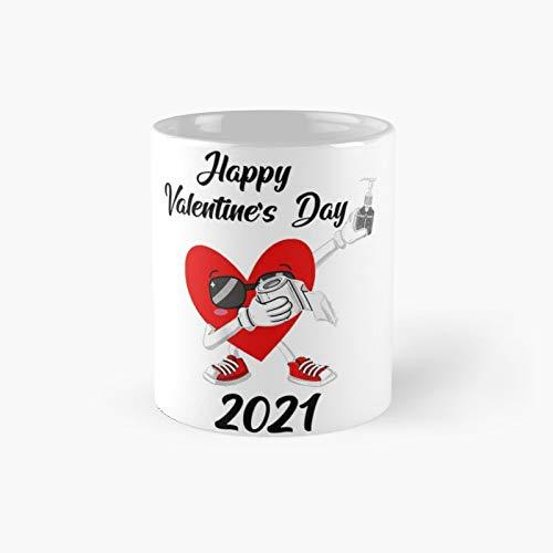 Dabbing Heart In A Mask 2021 Valentines Day Dab Boys Kids Classic Mug - 11 Oz.