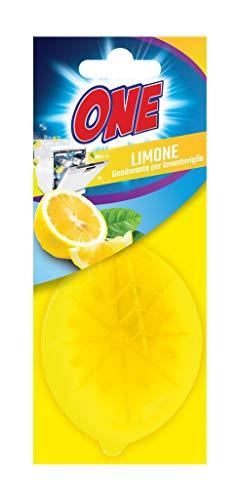 ONE   DEODORANTE LAVASTOVIGLIE al fresco profumo di limone   Neutralizza gli odori sgradevoli, che si formano all'interno della lavapiatti   40 lavaggi   Pulizia a basso impatto ambientale