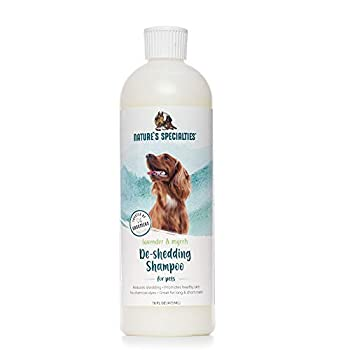 Nature s Specialties Deshedding Dog Shampoo for Pets Ready to Use Made in USA Lavender and Myrrh 16oz