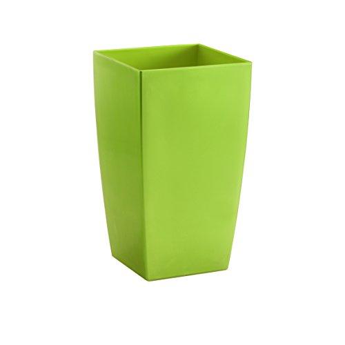 Vaso algarve in plastica verde quadrato 35 cm piante fiori accessori giardinaggio