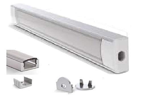 E-led Perfil de aluminio para LED, 17 x 7 x 1000 mm,...