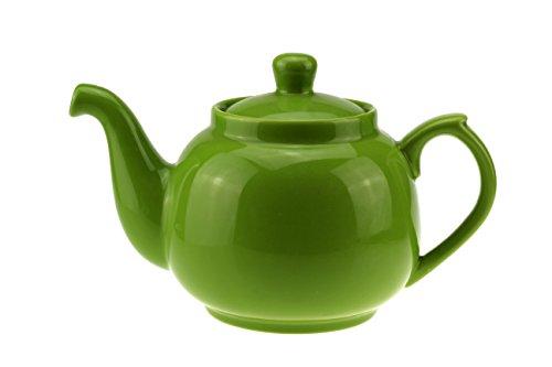 Urban Lifestyle Teekanne/Teapot klassisch aus Keramik mit Nicht-tropfendem Ausguss Notting Hill 1,0L (grün)