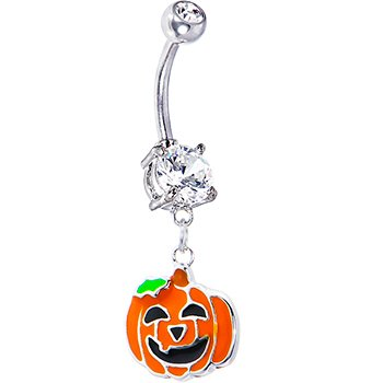 Happy Jackolantern Belly Ring