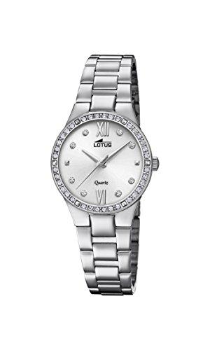 Lotus dames analoog kwarts horloge met roestvrij stalen armband 18460/1