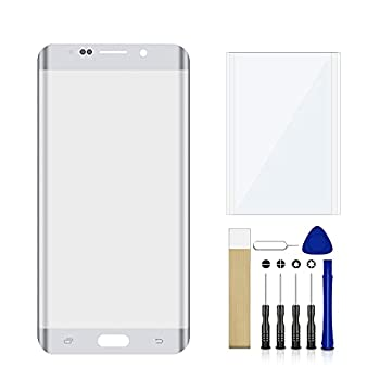 for Samsung Galaxy S6 Edge SM-G925W8 White Front Outer Glass Lens Screen Replacement Repair Tool Kit No LCD Touch Digitizer