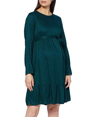 MAMALICIOUS Damen MLESSEY L/S Woven Short Dress Kleid, DEEP Teal, M